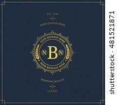vector calligraphic logo... | Shutterstock .eps vector #481521871