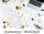 wedding planner schedule... | Shutterstock . vector #481523635