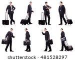 young businessman during... | Shutterstock . vector #481528297