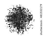 vector explosion cloud of grey...   Shutterstock .eps vector #481532179