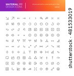 material design arrow icons set.... | Shutterstock .eps vector #481533019