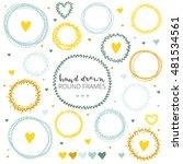 round floral frames wreaths.... | Shutterstock .eps vector #481534561