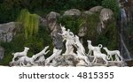 Small photo of The Actaeon sculptural garden fountain group at the Cascade in the park of Caserta Palace (Reggia of Caserta). Campania, Italy