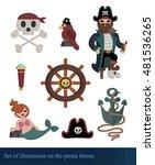 cartoon illustration on the... | Shutterstock .eps vector #481536265