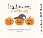 halloween emoticon icons set.... | Shutterstock .eps vector #481538764