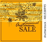 autumn sale background with... | Shutterstock .eps vector #481538995