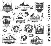 set of black mountaineering ... | Shutterstock .eps vector #481539151