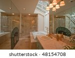 luxurious master bathroom with... | Shutterstock . vector #48154708
