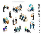 isometric flat businesspeople... | Shutterstock .eps vector #481549987