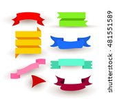 vector image of ribbons ... | Shutterstock .eps vector #481551589