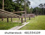 military type obstacle course | Shutterstock . vector #481554109