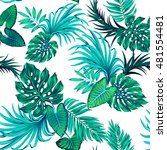 vector tropical leaves pattern. ... | Shutterstock .eps vector #481554481