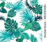 vector tropical leaves pattern. ... | Shutterstock .eps vector #481554481