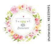 summer orchid  camellia  rose ... | Shutterstock .eps vector #481559491