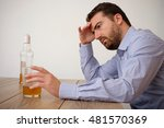 Small photo of Man feeling bad because of alcohol abuse