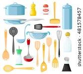 set of different utensils for... | Shutterstock .eps vector #481578457