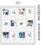 creative calendar 2017.... | Shutterstock .eps vector #481582291