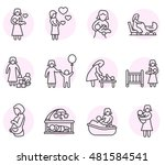 Motherhood Icons Set. Maternit...