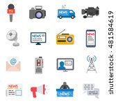 mass media icons set. broadcast ...   Shutterstock .eps vector #481584619