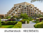 Small photo of RAS Al KHAIMAH, UAE - JUNE 27, 2016: Luxury 5 stars Rixos Bab Al Bahr (650 rooms and suites) situated on pristine white sands of Ras Al Khaimah tranquil Marjan Island with crystal blue Arabian Gulf.