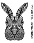 rabbit head zentangle stylized  ... | Shutterstock .eps vector #481585861