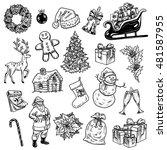 holly jolly merry christmas... | Shutterstock .eps vector #481587955