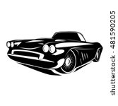 vintage muscle car. vector... | Shutterstock .eps vector #481590205