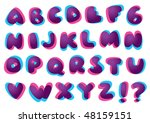 funky typography  with 3d like... | Shutterstock .eps vector #48159151