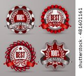 set of luxury silver badges... | Shutterstock .eps vector #481601161