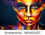 portrait of the bright... | Shutterstock . vector #481601257