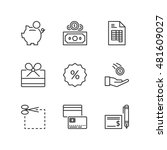 thin line icons set about... | Shutterstock .eps vector #481609027