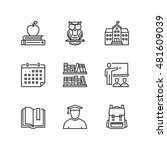 thin line icons set about... | Shutterstock .eps vector #481609039