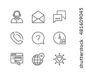 thin line icons set about... | Shutterstock .eps vector #481609045