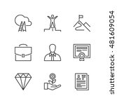 thin line icons set about... | Shutterstock .eps vector #481609054