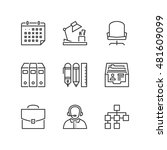 thin line icons set about... | Shutterstock .eps vector #481609099