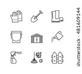 thin line icons set about... | Shutterstock .eps vector #481609144