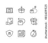 thin line icons set about... | Shutterstock .eps vector #481609525