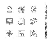 thin line icons set about... | Shutterstock .eps vector #481609867