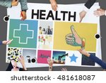 health happy cross thumbsup... | Shutterstock . vector #481618087
