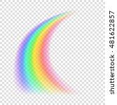 transparent rainbow. vector... | Shutterstock .eps vector #481622857