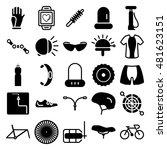 bike cycling biking accessories ... | Shutterstock .eps vector #481623151