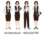 girl in office clothes. woman... | Shutterstock .eps vector #481626709