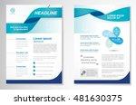 vector brochure flyer design... | Shutterstock .eps vector #481630375