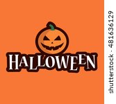 halloween logo text with... | Shutterstock .eps vector #481636129