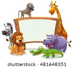 safari animals board  vector... | Shutterstock .eps vector #481648351