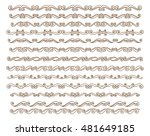 set ornamental borders. vector... | Shutterstock .eps vector #481649185