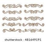 decorative elements. dividers... | Shutterstock .eps vector #481649191