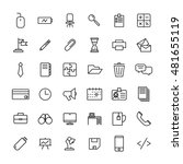 set of office icons in modern... | Shutterstock .eps vector #481655119