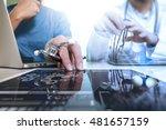 medical technology network team ...   Shutterstock . vector #481657159