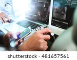 medical technology network team ... | Shutterstock . vector #481657561
